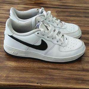 Nike Air Force Kids White/Black Sneakers